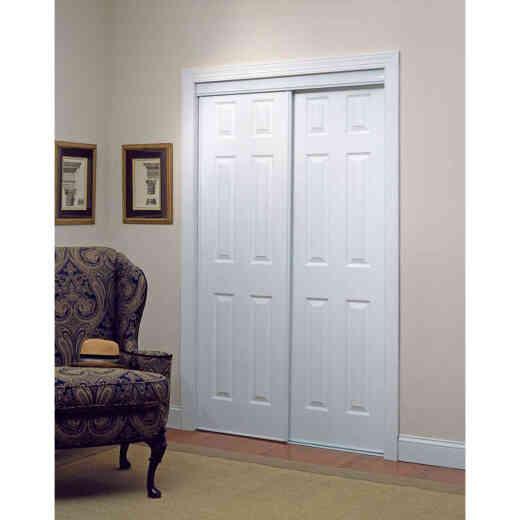 Erias 106 Series 59 In. W. x 80-1/2 In. H. White Vinyl Clad 6-Panel Bypass Door