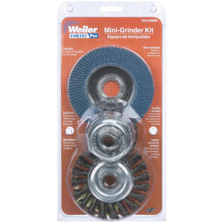Weiler Vortec 3 pcs Angle Grinder Abrasive Set Image 2