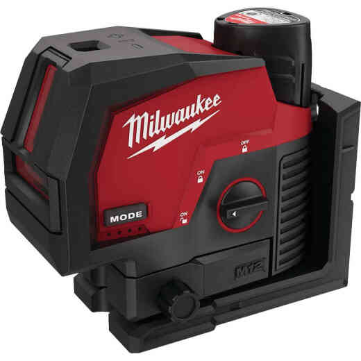 Milwaukee M12 Green Cross Line & Plumb Points Laser Kit with Battery
