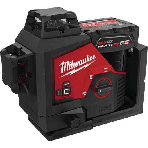 Milwaukee M12 Green 360-Degree 3-Plane Laser Kit