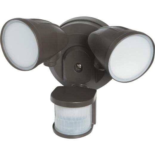 Bronze Motion Sensing LED Floodlight Fixture