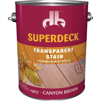 Duckback SUPERDECK VOC Transparent Exterior Stain, Canyon Brown, 1 Gal.