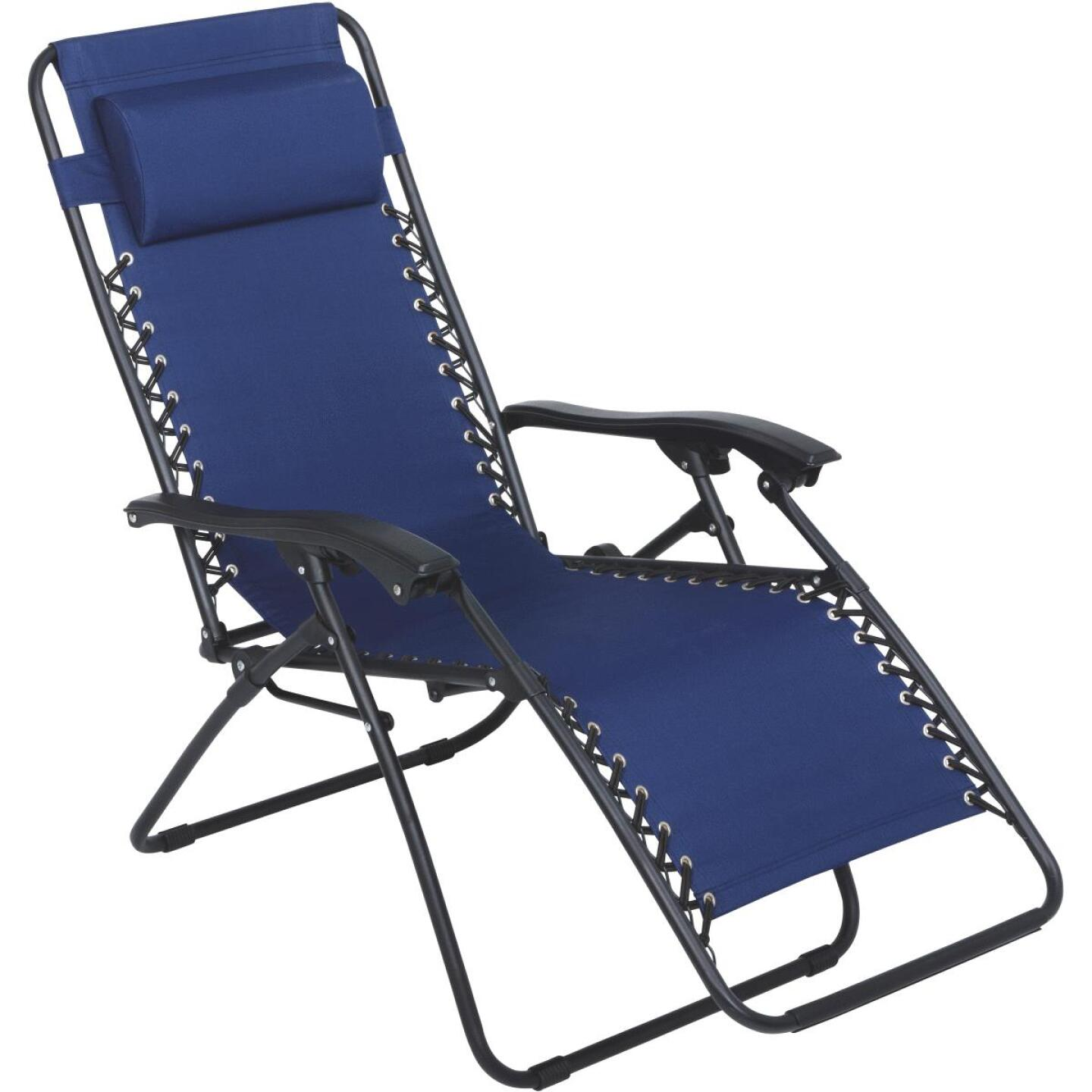 Outdoor Expressions Zero Gravity Relaxer Blue Convertible Lounge Chair Image 1