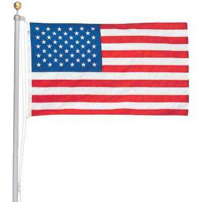 Valley Forge 3 Ft. x 5 Ft. Nylon American Flag & 20 Ft. Pole Kit